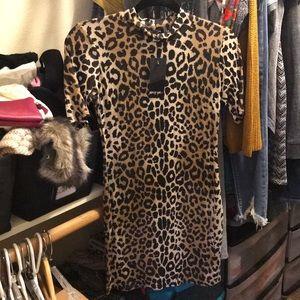 Nasty Gal leopard dress